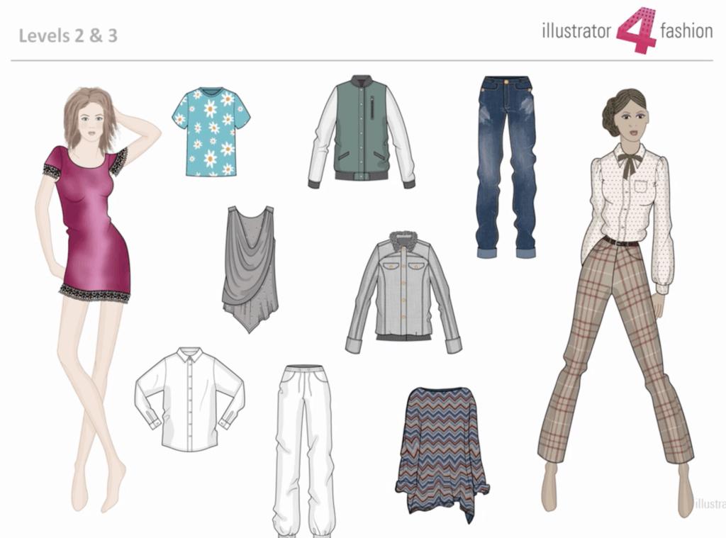สอนใช้ Illustrator ในการออกแบบแฟชั่นดีไซน์