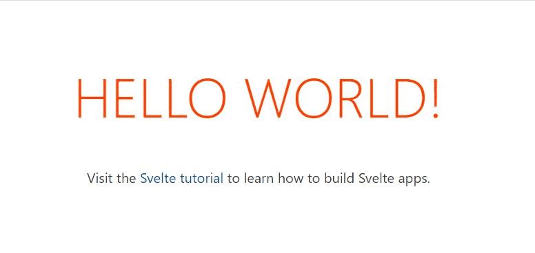 Svelte Hello World