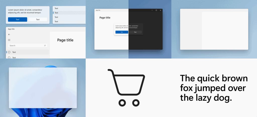 ตัวอย่างการออกแบบ principles windows 11