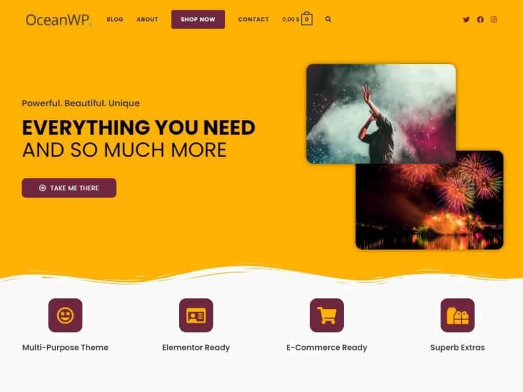02Oceanwp WordPress Free Theme