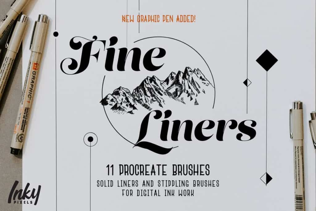 Fine LinerInk Procreate Brushes