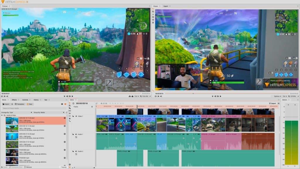 HitFilm Express Light Interface video editing free โปรแกรมตัดต่อ