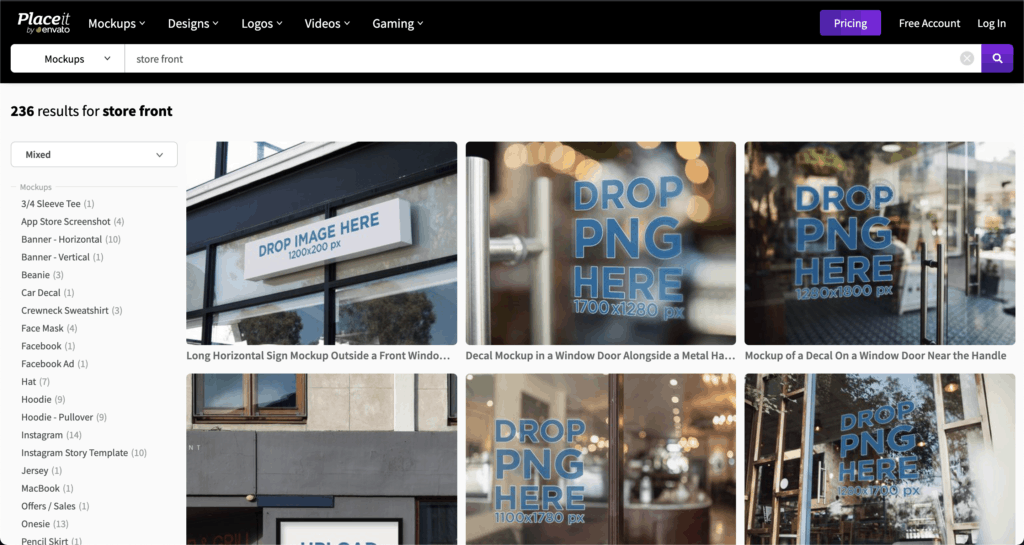 Mockup store front free from Placeit