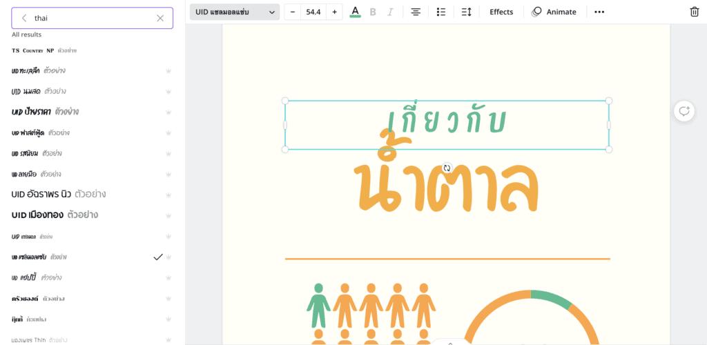 canva infographic thai font