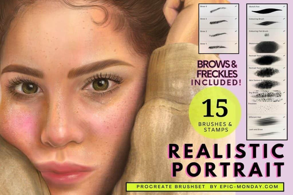 Procreate realistic portrait brush