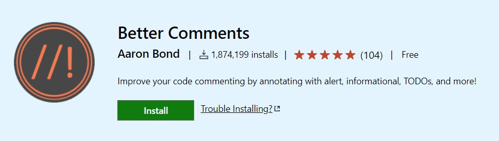 Better Comments vscode extensions