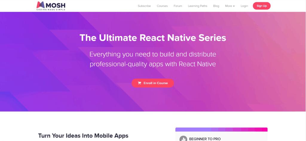 MOSH CODING MADE SIMPLE react native mobile development