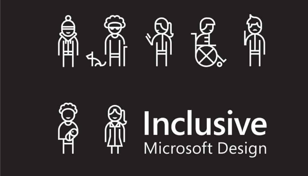ภาพตัวอย่าง inclusive design จาก microsoft