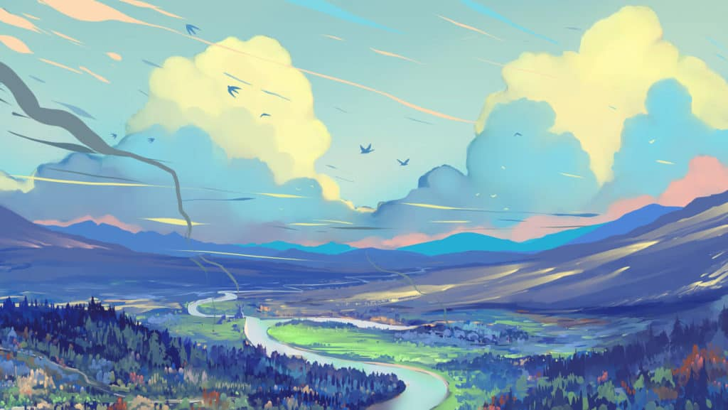ตัวอย่างภาพจาก โปรแกรม paint storm