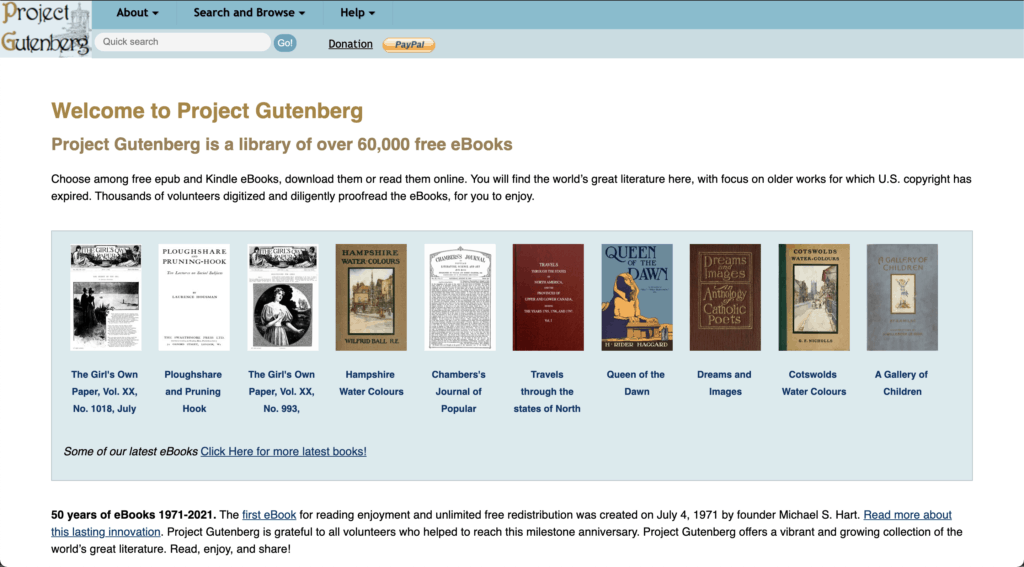 02 project gutenberg หนังสือฟรี
