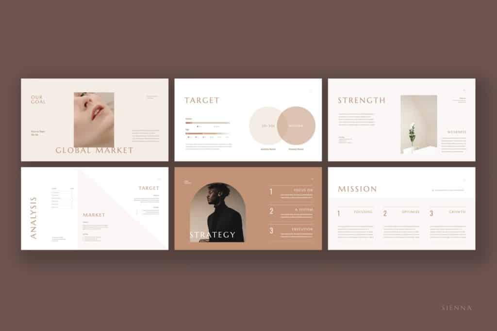 07 Sienna Presentation Template  เทมเพลต powerpoint
