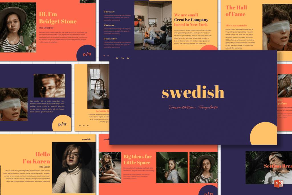 14 swedish presentation template