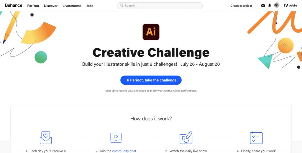 illustrator challenge behance