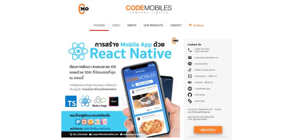 CODEMOBILES mobile development react native