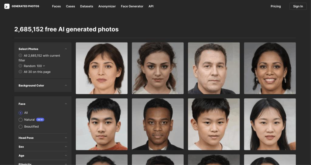 free AI generated photos