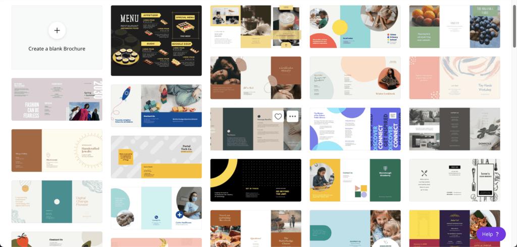 template brochure canva