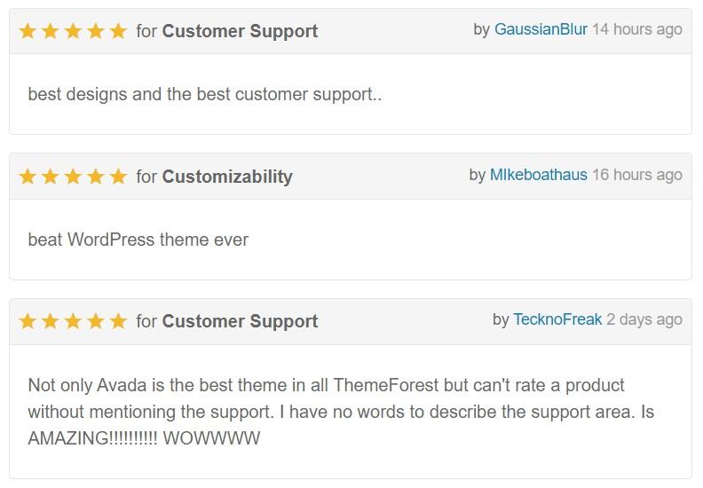 Avada comment web template -  Themeforest wordpress theme