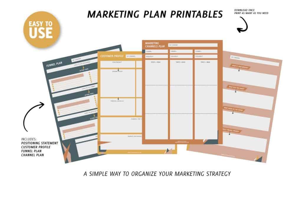 marketing plan printables