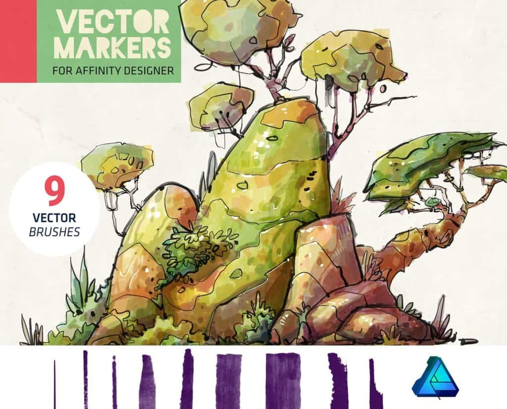 vector markers affnity brush